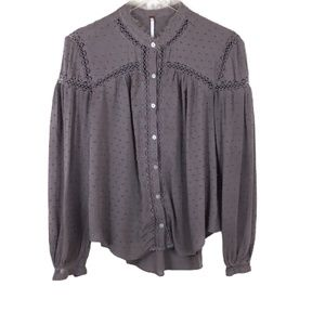 Free People Swiss Dot Every Day Every Girl Blouse
